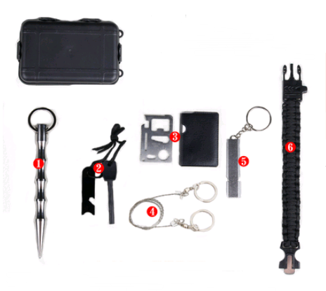 Outdoor wilderness survival equipment camping travel mountaineering set portable emergency multifunctional wilderness survival kit - adventuresinoutdoorfun.com, Safety & Survival,