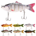 Fishing Lure With 6 Jointed Sections Hooks - adventuresinoutdoorfun.com, Fishing Lures,