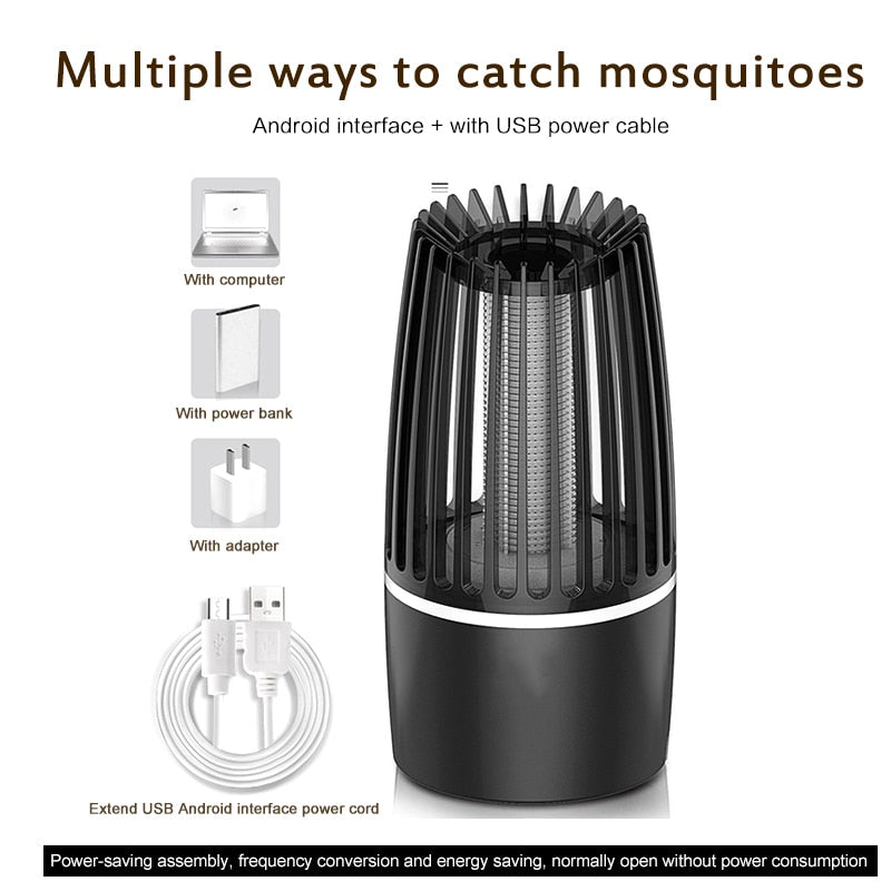 2020 New USB Anti-mosquito Lamp Kills Insects LED Insecticide Pest Repeller Camping Light Mosquito Traps Pest Control Products