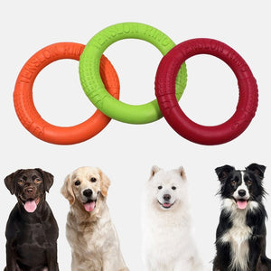 Dog Toys Flying Discs Pet Interactive Training Ring Dog Portable Outdoor for Small Large Dog Chew Toys Pet Motion Tools Products