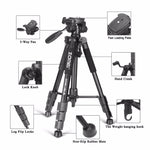 New Zomei Tripod Z666 Professional Portable Travel Aluminium Camera Tripod Accessories Stand with Pan Head for Canon Dslr Camera - adventuresinoutdoorfun.com, 190307,
