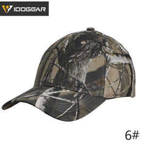 IDOGEAR Tactical Baseball Cap Dad Hat Sun Hats Headwear Bionic Camo Operator Outdoor Sports Airsoft Hiking Caps 3608 - adventuresinoutdoorfun.com, Headwear,