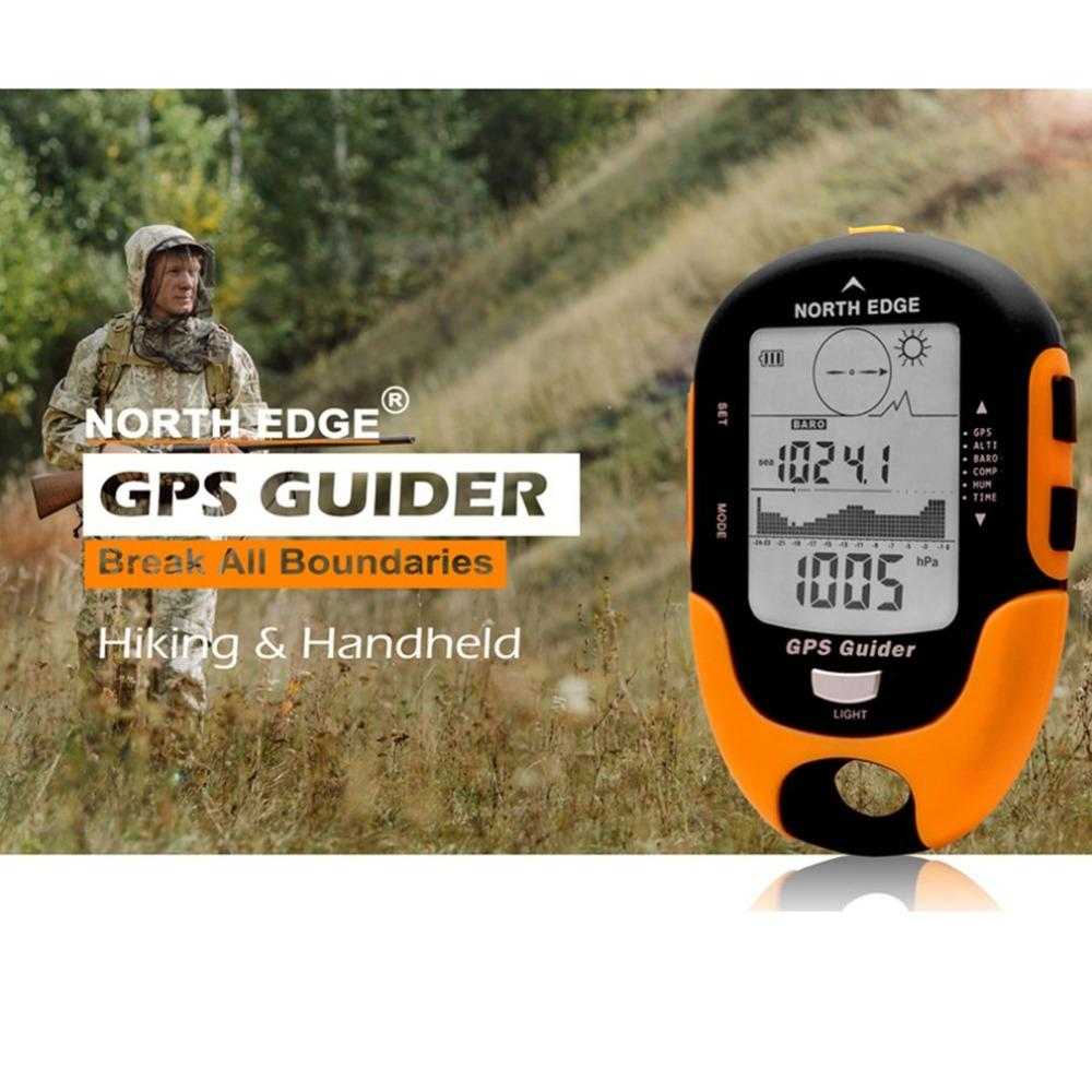 NORTH EDGE GPS Tracker Navigation Receiver Handheld USB Rechargeable with Electronic Compass for Outdoor Travel - adventuresinoutdoorfun.com, GPS,