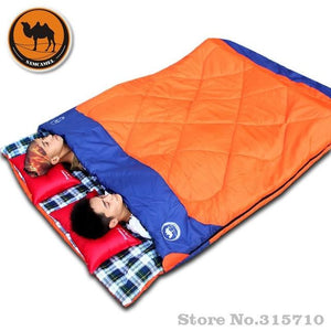 Outdoor Double Sleeping Bag Envelope Spring and Autumn Camping Hiking Portable Sleeping Bag filling cottom for couple - adventuresinoutdoorfun.com, Sleeping Bag,