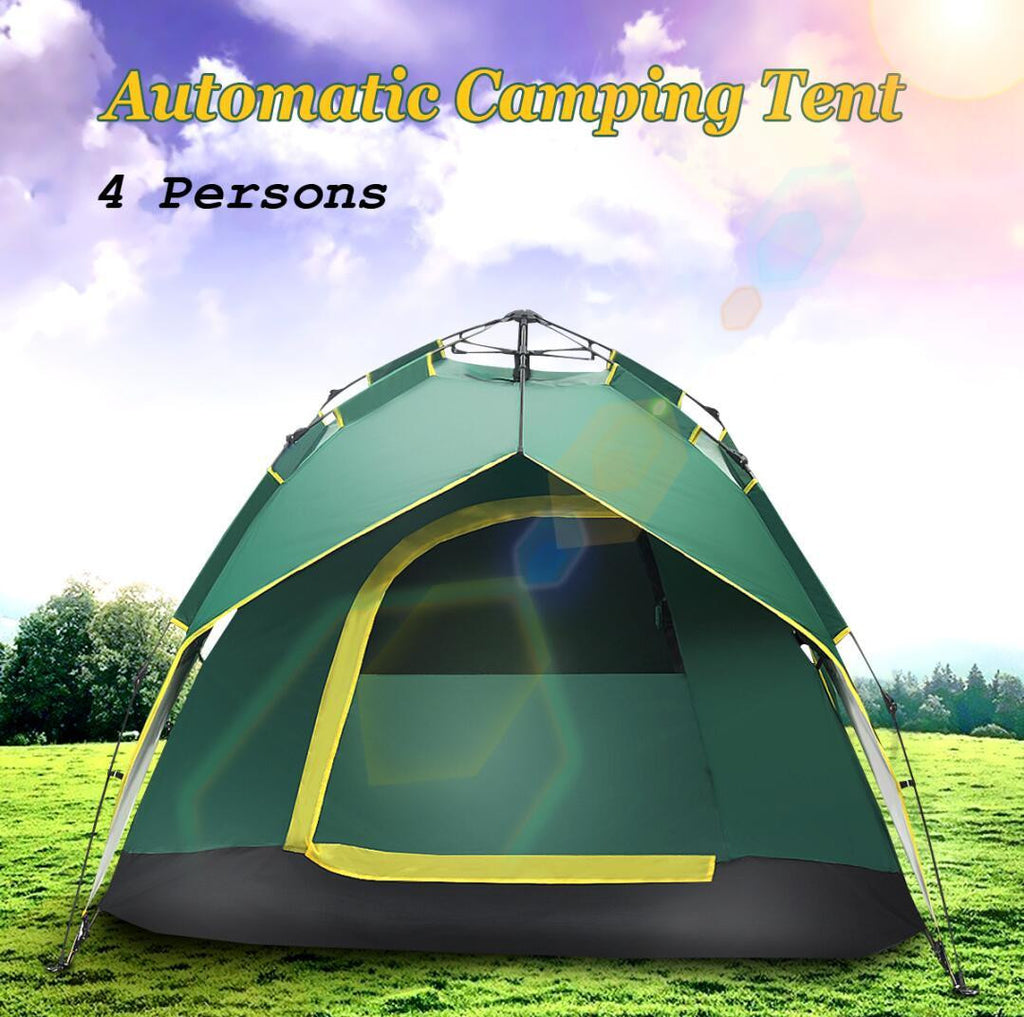 Camping Tent Large Space 3-4 Persons Automatic Speed Open Throwing Pop Up Windproof Camping Family Tent Tents Outdoor Camping - adventuresinoutdoorfun.com, Tent,