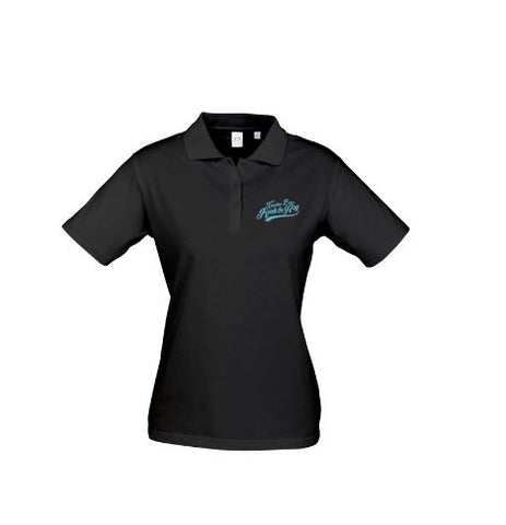 Womens Black Polo Shirt