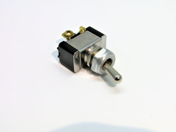 DC Rated Vintage Toggle Switch Aluminum Bezel