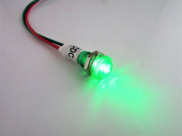 Small LED Dash Indicator Lamp Green