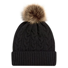 Load image into Gallery viewer, Faux Fur Pom Pom Toque