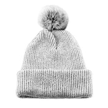 Load image into Gallery viewer, Faux Fur Pom Toque