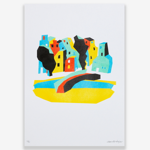 RISO PRINT - AMSTERDAM CHAOTIC CITY