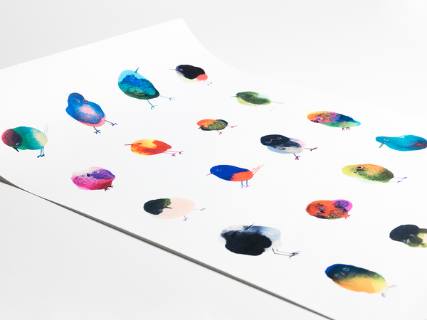 INKDROP BIRD POSTER - Size A2 / 59,4 x 42 cm - Limited edition