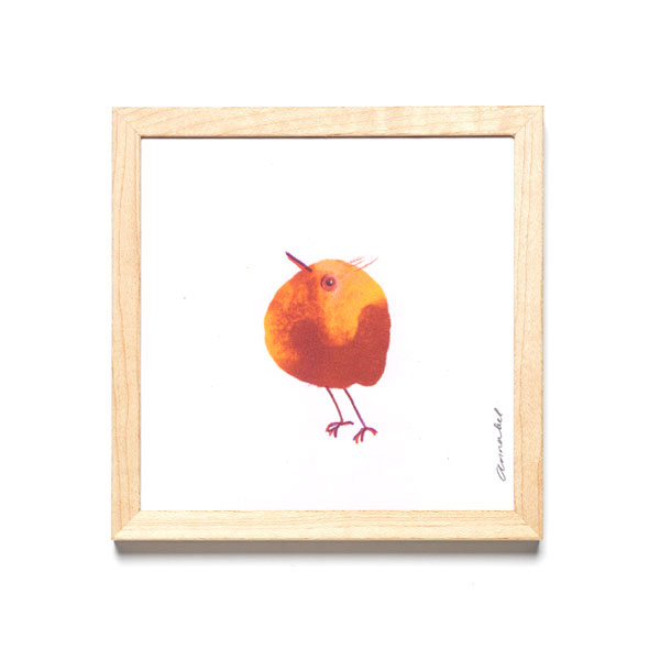 INKDROP BIRD NO.17- YELLOW & GARNET RED - ORIGINAL DRAWING