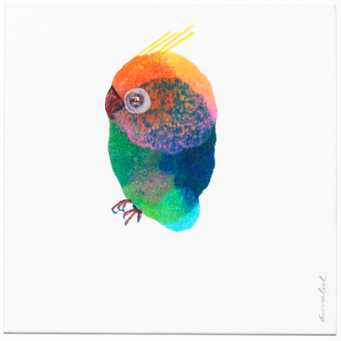 INKDROP BIRD NO.023 - MULTICOLOR - ORIGINAL DRAWING