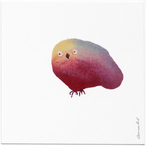 INKDROP BIRD NO.032 - GARNET, LILAC & MUSTARD - ORIGINAL DRAWING