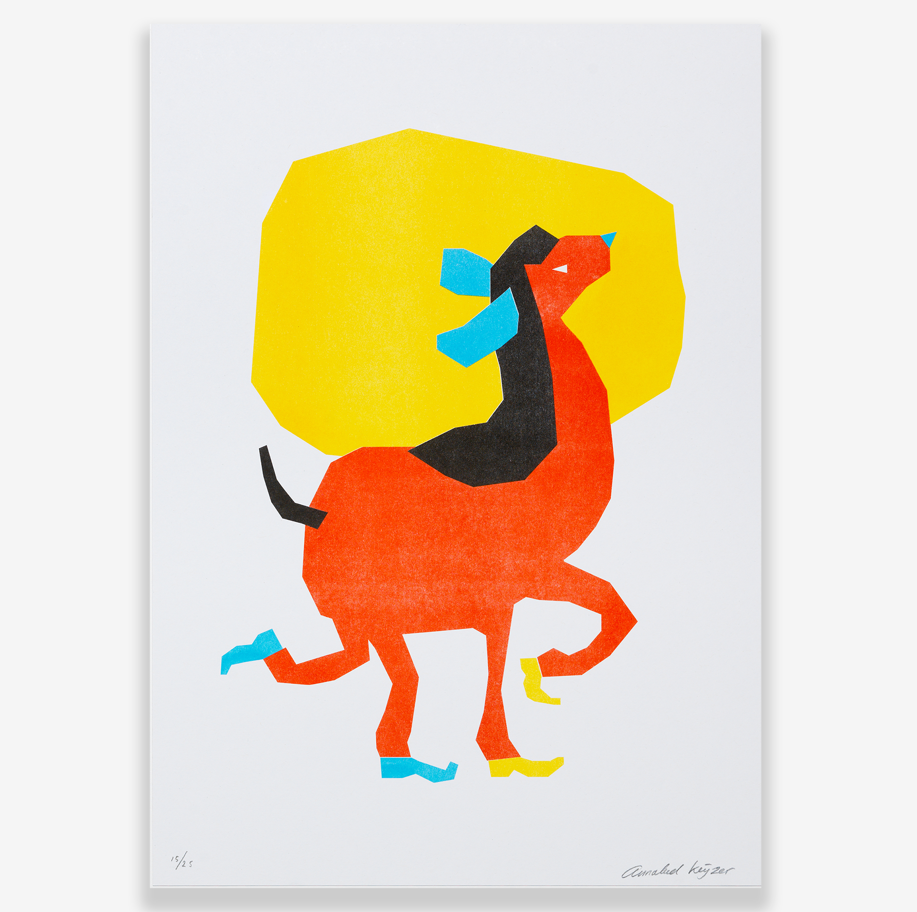 RISO PRINT - OPTIMISTIC LAMA