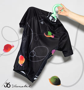 Short sleeve slow cycling shirt - snails