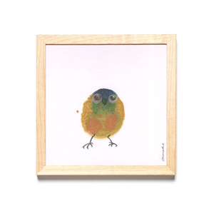 INKDROP BIRD NO.031 - ULTRAMARINE, OLIVE & MUSTARD - ORIGINAL DRAWING