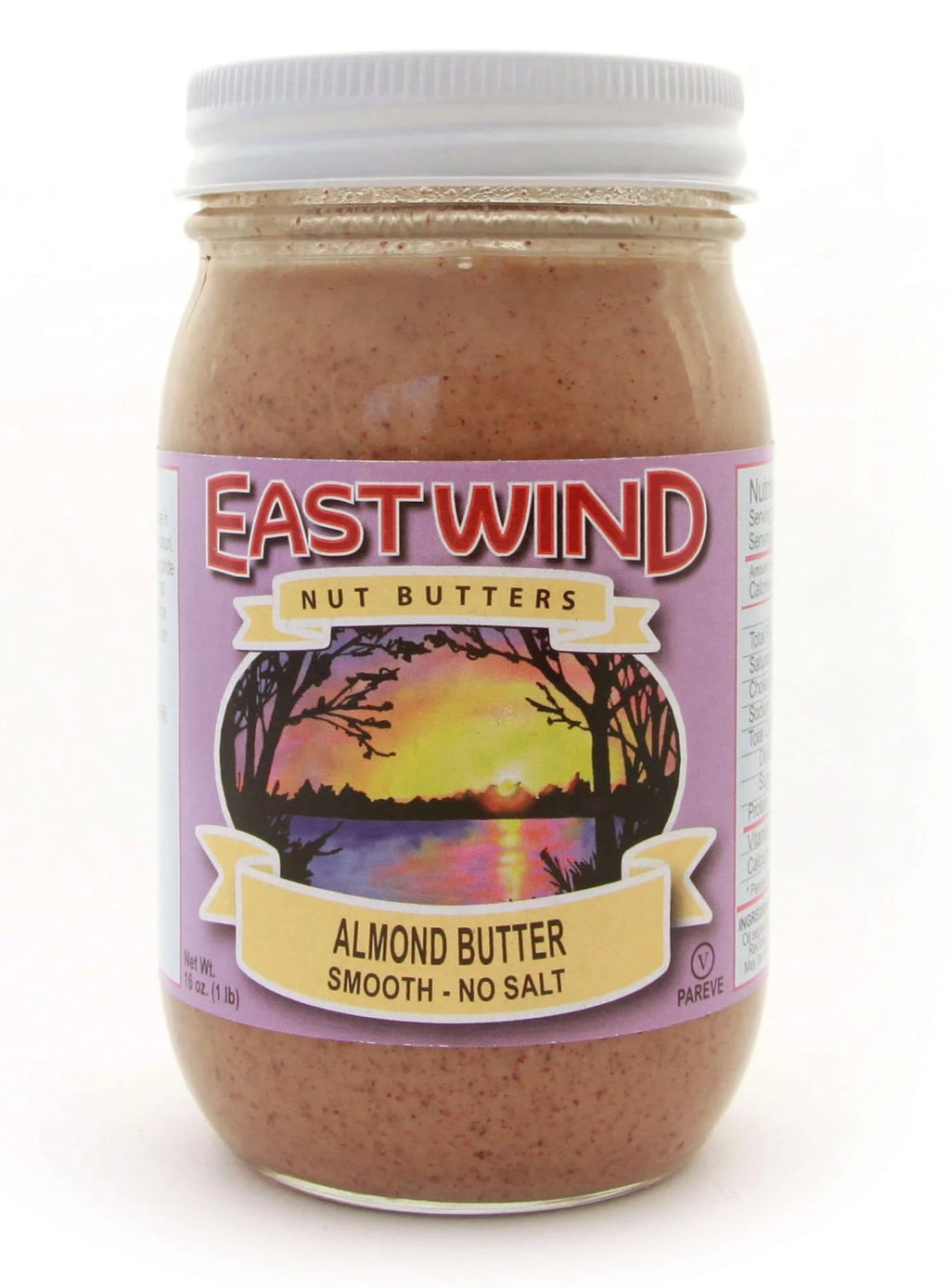 Natural Almond Butter Smooth 16 oz