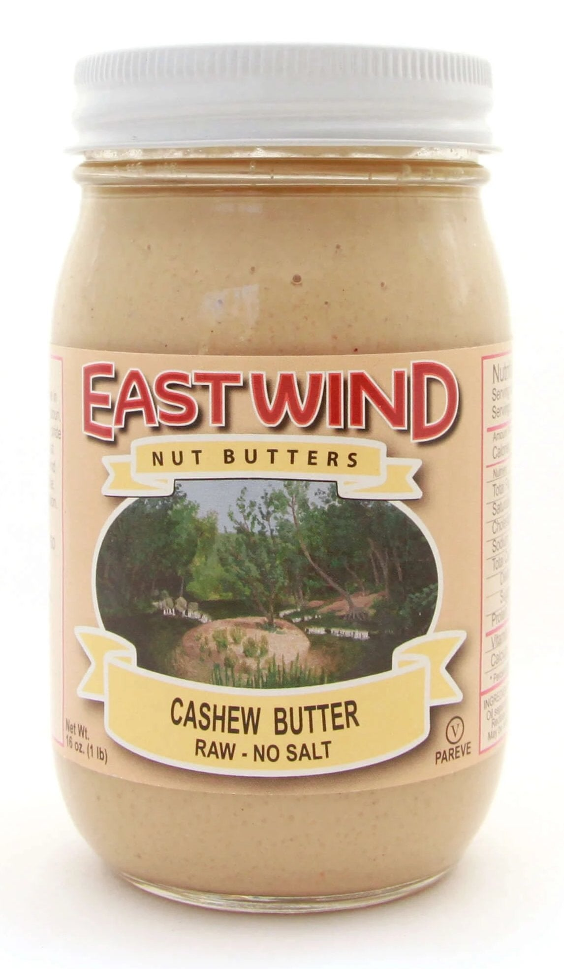 Natural Raw Cashew Butter 16 oz