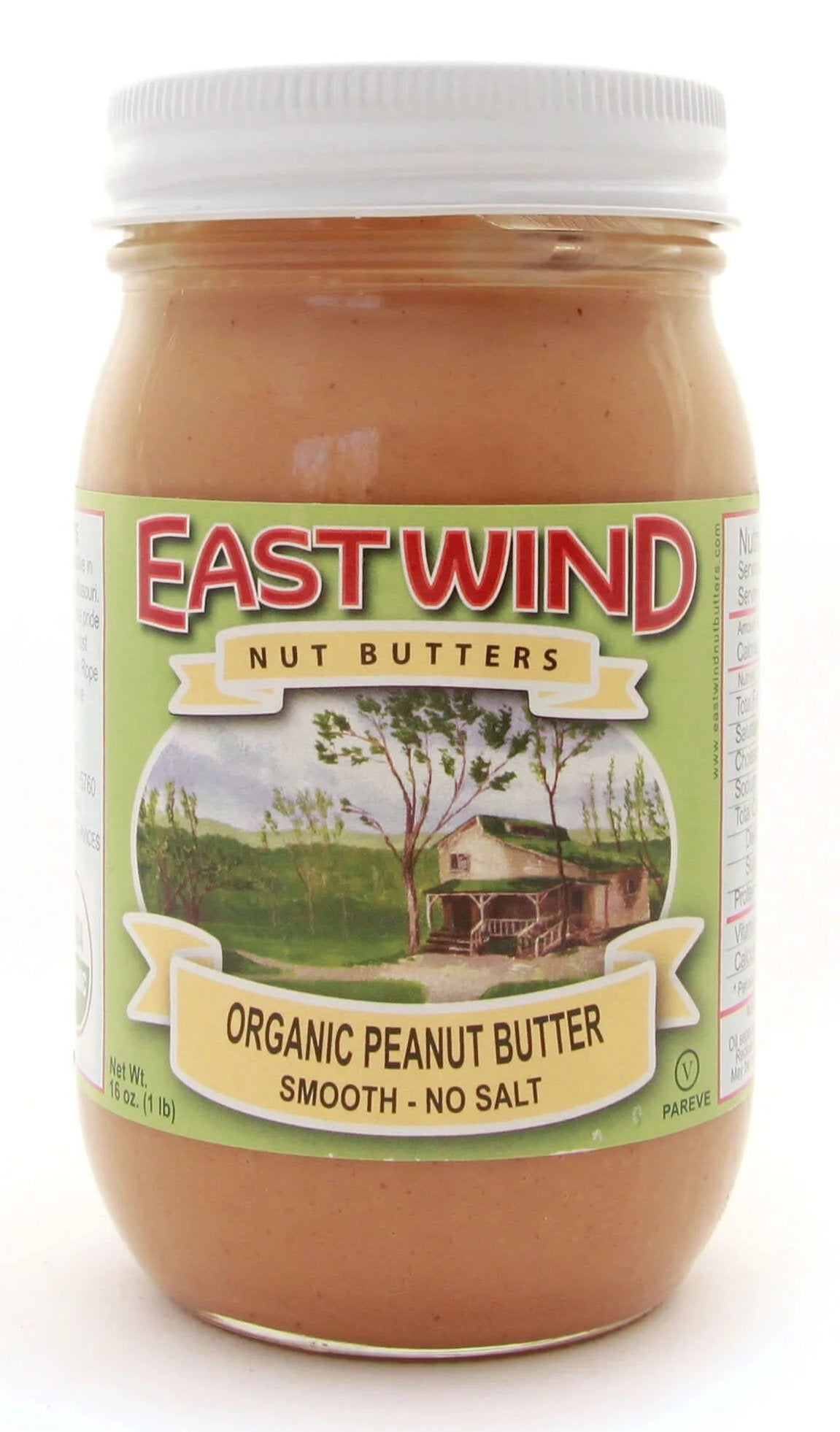 Organic Peanut Butter Smooth No Salt 16 oz