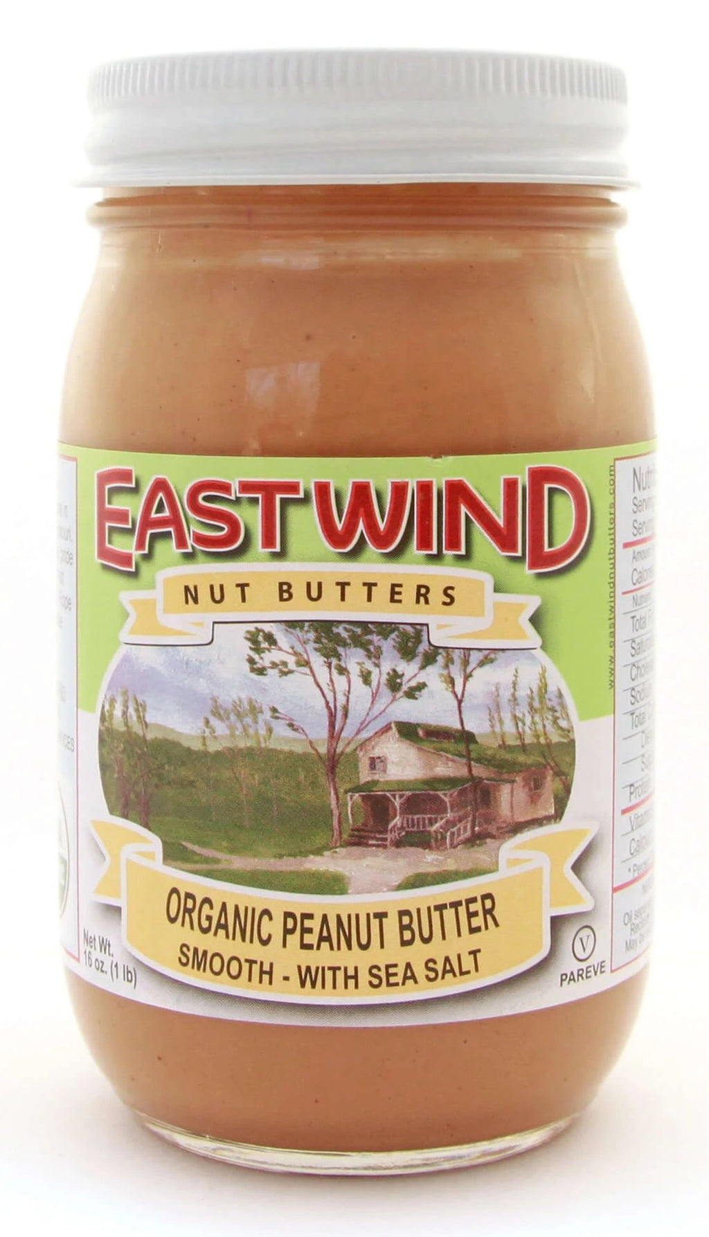 Organic Peanut Butter Smooth With Sea Salt 16 oz