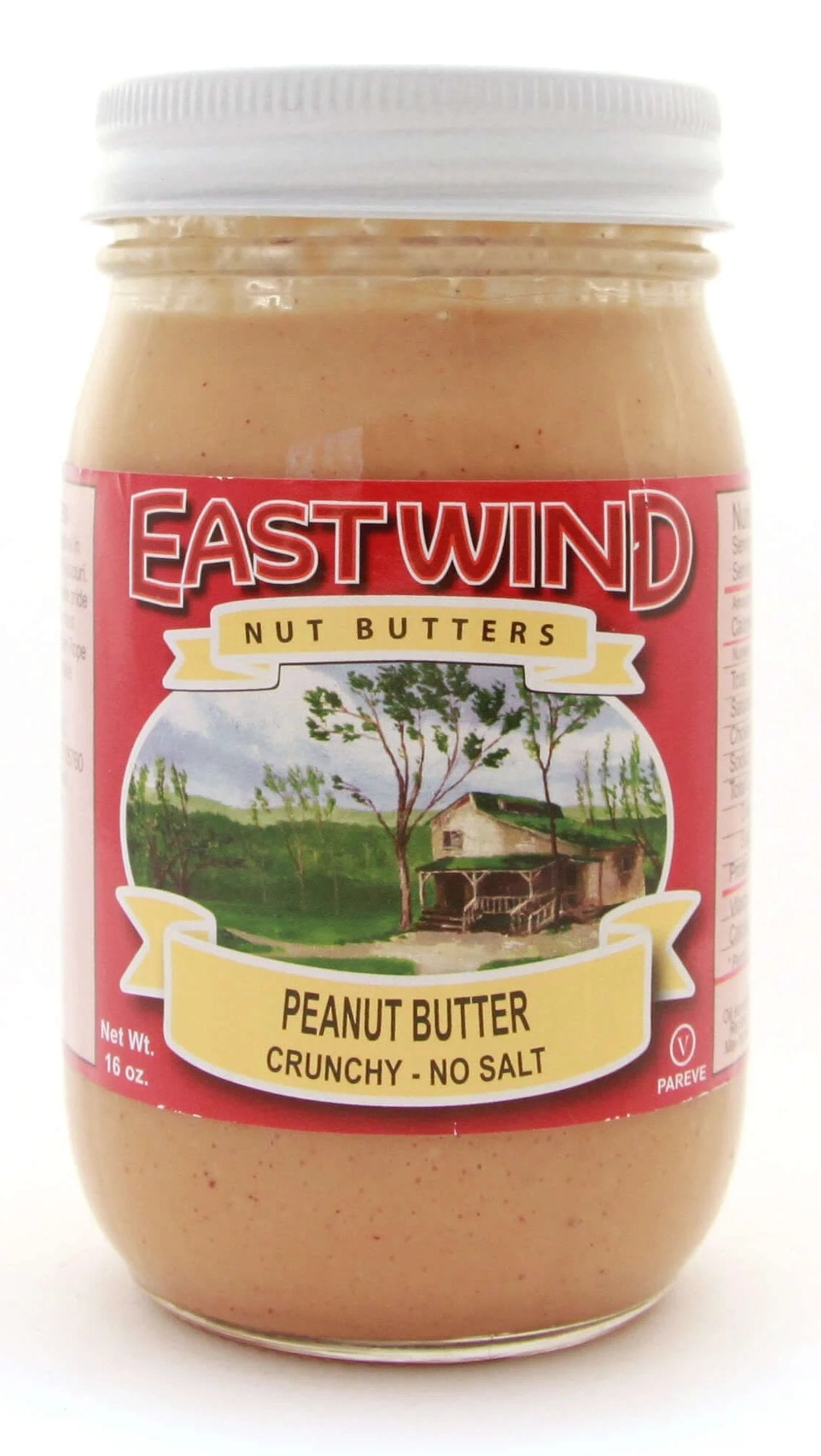 Natural Peanut Butter Crunchy No Salt 16 oz