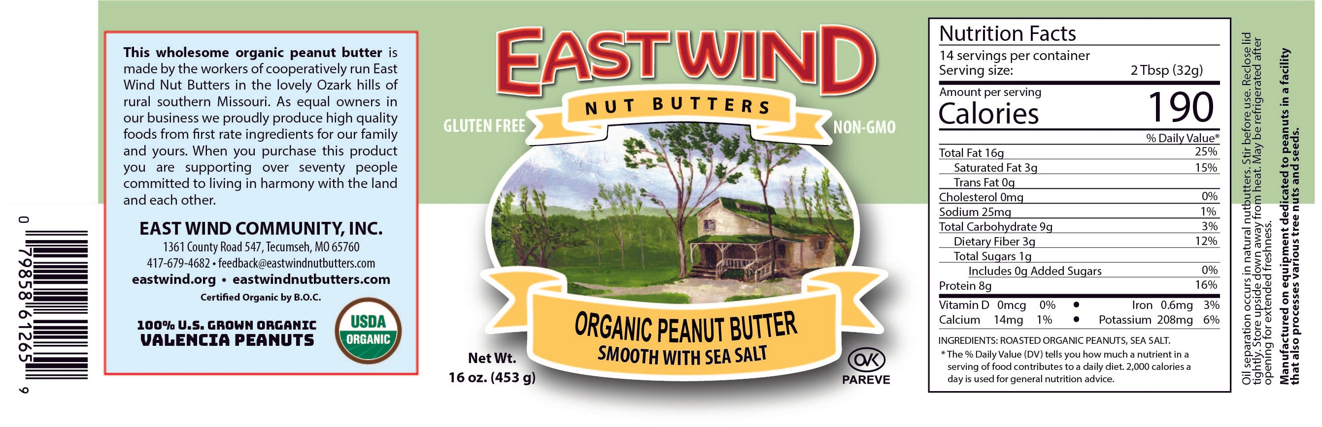 Organic Peanut Butter Smooth With Salt 16oz