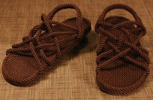 Brown Rope Sandals