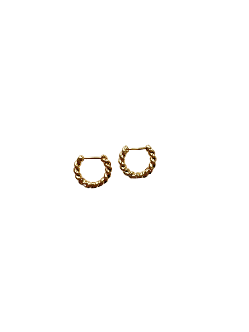 Mini Gold Twist Hoops
