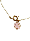 Pink Smiley Necklace