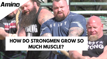 How do strong men grow so much muscle?