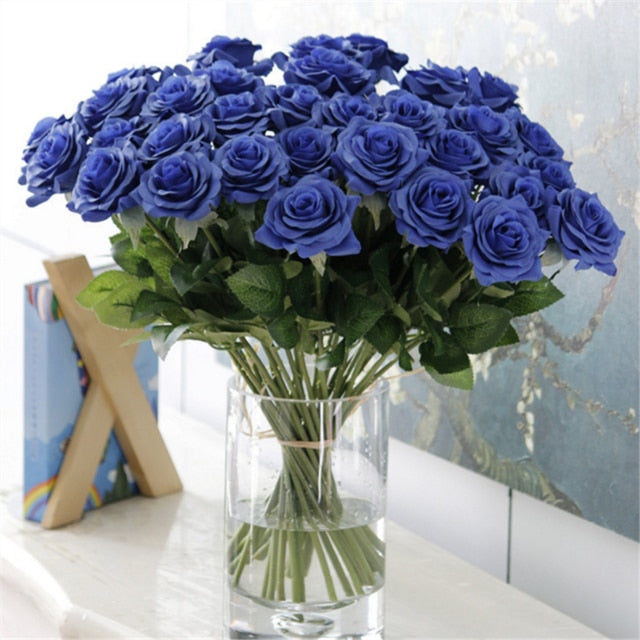 25 Pcs/Lot Artificial Peony Flowers Wedding Bouquet Of Roses