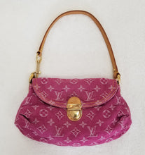Load image into Gallery viewer, Louis Vuitton Fuschia Denim Pleaty Baggy