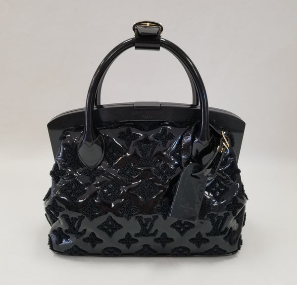 Authentic Louis Vuitton Black Patent Lockit BB