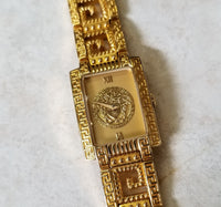 Authentic Versace Vintage Gold Watch #05263