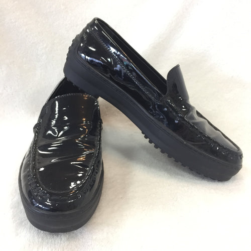 Tod's Black Patent Driving Loafers
