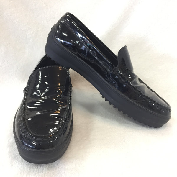 Authentic Tod's Black Patent Driving Loafers Women's 38 / 7