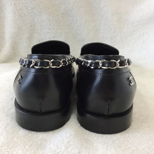 Chanel Black Chain Loafers Women's Size 35.5 / 5-5.5