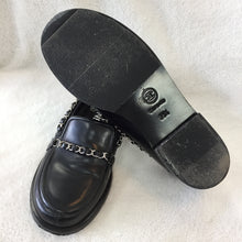 Load image into Gallery viewer, Chanel Black Chain Loafers Women's Size 35.5 / 5-5.5
