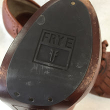 "Load image into Gallery viewer, Frye ""Kittie"" Chunky Brown Leather Heels"