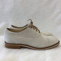 Authentic Tod's Ivory Suede Lace Ups Women's 37.5 / 6.5
