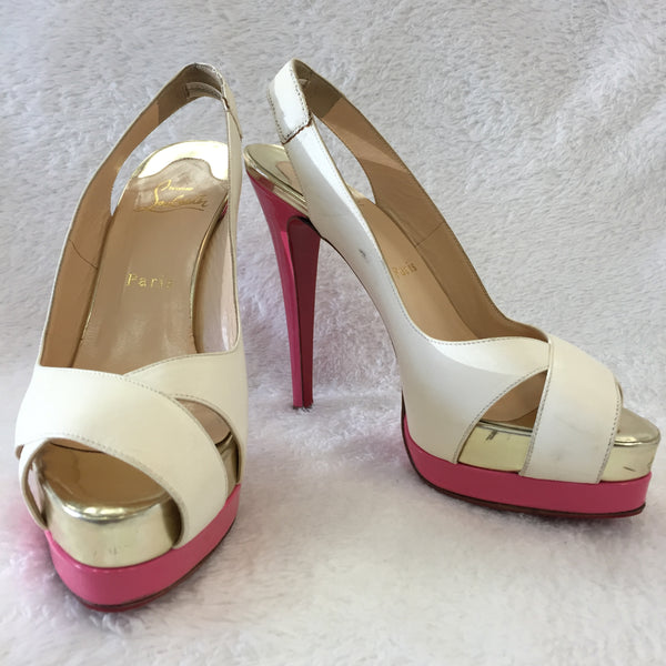 Authentic Christian Louboutin Very Croise Platform Women's Size 37.5 / 7