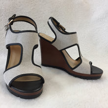 Load image into Gallery viewer, Michael Kors Canvas Wedge Sandals Women's size 39 / 8