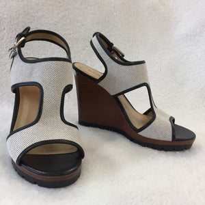 Michael Kors Canvas Wedge Sandals Women's size 39 / 8