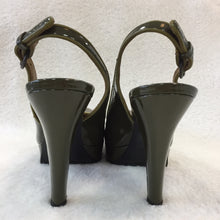 Load image into Gallery viewer, Miu Miu Green Patent Platform Celene Back Heels