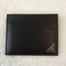 Load image into Gallery viewer, Prada Black Smooth Leather Card Holder