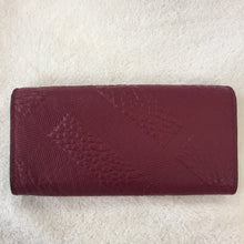 Load image into Gallery viewer, Burberry Dark Plum Porter Embossed Continental Wallet