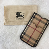 Authentic Burberry Horseferry Check Small Phone Pouch