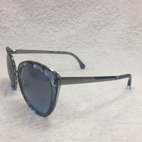 Authentic Chanel Blue Marble Butterfly Sunglasses